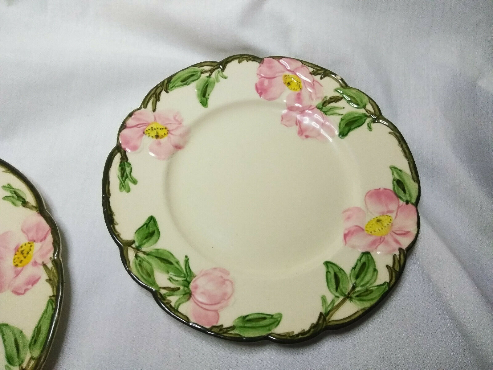 Vintage Franciscan China Set of 2, 8 inch cheese dessert plate Desert Rose