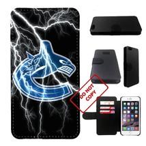 10 kinds hockey team, canucks iphone 6 wallet case, 10 kinds hockey team... - $16.82