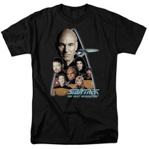 Star Trek The Next Generation Crew Capt Jean-Luc Picard graphic t-shirt CBS161 image 1