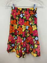 NWT Gymboree Aloha Sunshine 8 Floral Tiered Maxi Skirt Brown Pink Orange - $14.99