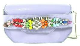 Steve Madden NWT $98 Lavender Crossbody Clutch Jeweled Small Pauline Sil... - £24.56 GBP