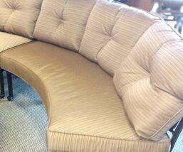 Patio Sofa 3pc Deep Seating Circular Bench Elisabeth Outdoor Furniture Aluminum image 4