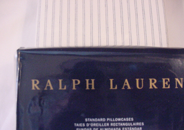 Ralph Lauren Hoxton Graham Cream Gray Stripe Pillowcases Standard - $57.00