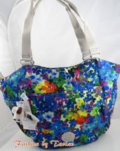 "KIPLING GWENDOLYN Tote Shoulder Bag Handbag Summer Meadow Furry Monkey ""... - $69.29"