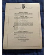 Denmark 100 Blank Pages - Fits 2 Post or 3 Ring Albums - Brand New - $16.92