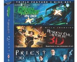 The Green Hornet / Priest / Resident Evil Afterlife-  (Blu-ray + 3D Blu-ray)