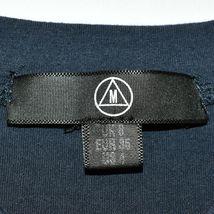 Missguided Women's Navy Blue Short Sleeve Crop Top T-Shirt Size 4 image 3