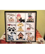 Framed Puppy Dogs Home Decor Wall Hanging/Shelf... - $6.00