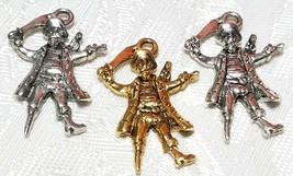 PIRATE BUCCANEER FINE PEWTER PENDANT CHARM - 18x26x4mm image 1