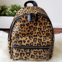 COACH F24208 WILD HEART PRINT MINI CHARLIE BACKPACK, NWT  - $139.00