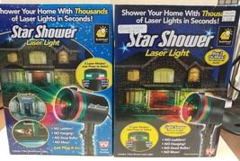 2 Star Shower Motion Light Static Laser Projector (1 only red light works) - $29.70