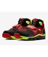 NIKE AIR TRAINER HUARACHE MEN SIZE 10.5 TO 11.5 BLACK VOLT RED NEW RARE COMFORT - $149.99