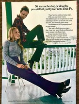 1971 Sears Clothing PRINT AD Scrunched or Slouchy Sit Pretty in Pants That Fit - $10.70