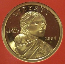 2004-S Ultra Cameo Proof Sacagawea Dollar #0669 - $13.59