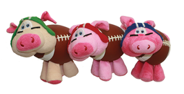 Dog Toy Plush Multipet Fun Pig-Skins Squeaky Football Assorted Colors Va... - £9.58 GBP