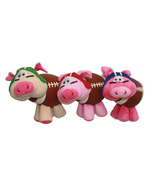 Dog Toy Plush Multipet Fun Pig-Skins Squeaky Football Assorted Colors Va... - $13.32