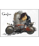Coraline Animated Movie Wibey on Motorbike Refrigerator Magnet NEW UNUSED - $3.99