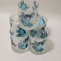 NEW Frosted Disney Drinking Glass Lilo and Stitch different faces Set of 5 - $74.79