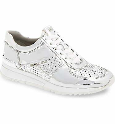 Michael Kors Women's Allie Metallic Wrap Trainer Sneakers Shoes New w/Defect 7.5
