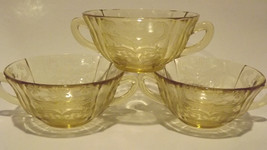 ~Federal Glass Amber Madrid 1930's Original Pattern 2 Handled Soup Cup S... - $16.36