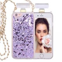 IPhone 6S / 6 Perfume Bottle Glitter Shake Star Dust Necklace Case(Purple) - $15.00