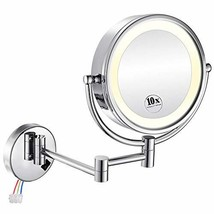 GURUN 8.5 Inch LED Lighted Wall Mount Hardwired Makeup Mirror with 10x M... - $90.99