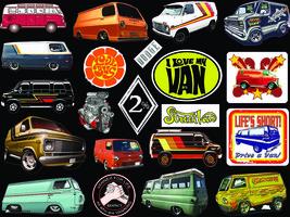 21 individual Contour Cut 60's 70's Vanner 2% Street Van Cool Vinyl stic... - $4.99