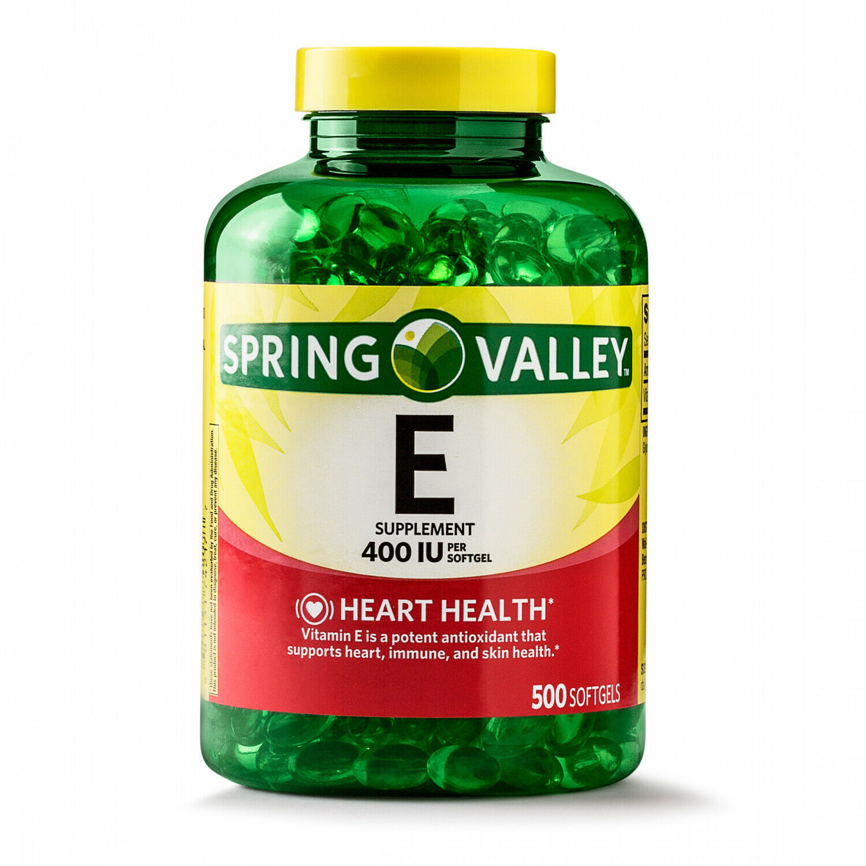 Spring Valley Vitamin E Softgels, 400 IU, 500 Count - $33.61