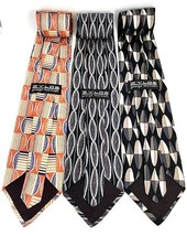"NEW Three (3) ZYLOS George Machado Italian Silk Men's Neck Ties 56"" Various - $21.95"
