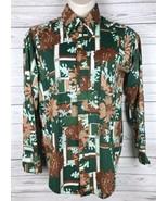 Vintage 70s Zayre Matt Andrews Button Down Shirt Men's XL 17-17 1/2 Disc... - $50.99