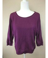 Juicy Couture L Raspberry Purple Lace Up Back Terry Sweatshirt 3/4 Sleev... - $19.99