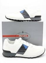 NIB Prada Mens White Match Race Side Stripe Low-Top Trainers Sneakers 13 46 - $345.01