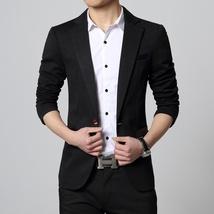 New Fashion Autumn and Winter Men Black Suit Jacket Men's Casual Business Suit J image 5
