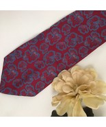 Giorgio Armani Red & Blue Print men's silk business tie - $44.95