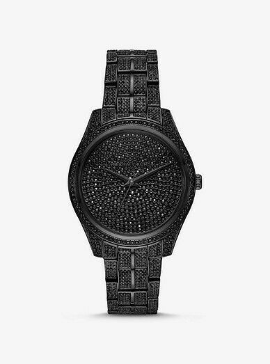 Primary image for BRAND NEW MICHAEL KORS MK3980 LAURYN BLACK TONE PAVED WOMEN'S WATCH