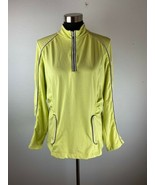 Chicos Zenergy Womens Top 2 L Large Neon Yellow Long Sleeve - $98.99