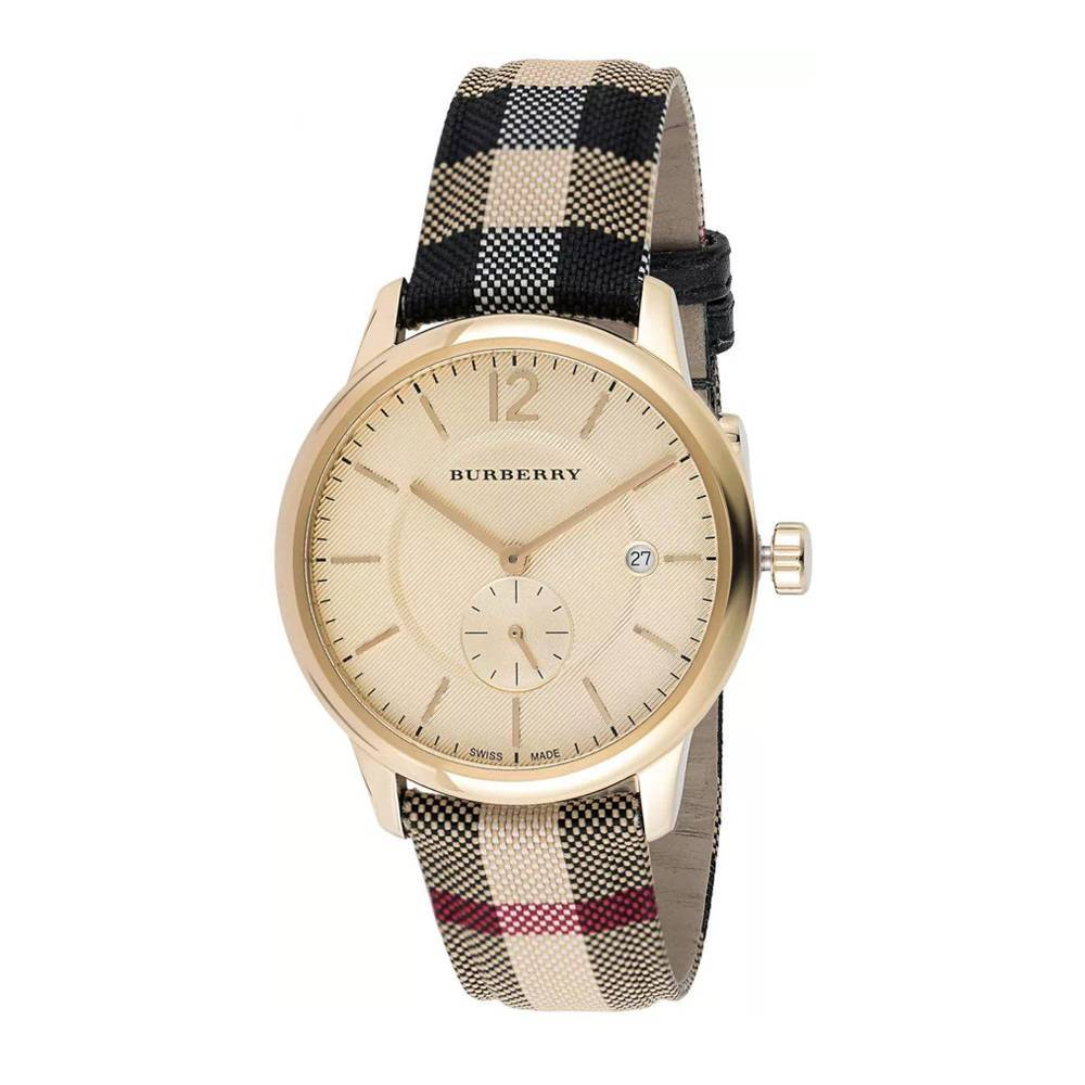 Primary image for Burberry BU10001 The Classic Round Gold Tone Watch 40 mm - Warranty