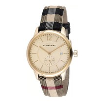 Burberry BU10001 The Classic Round Gold Tone Watch 40 mm - Warranty - $369.00