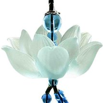 Lotus Car Pendant Crystal Car Pendant Car Decoration, Blue