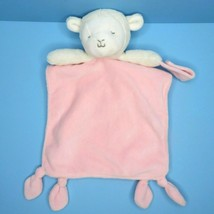 Carters Lamb Pink Security Blanket Rattle Knotted Corners Pacifier Holde... - $14.95