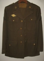 Vintage Mens Wool Army Green Suit Coat & Pants Uniform - $91.08