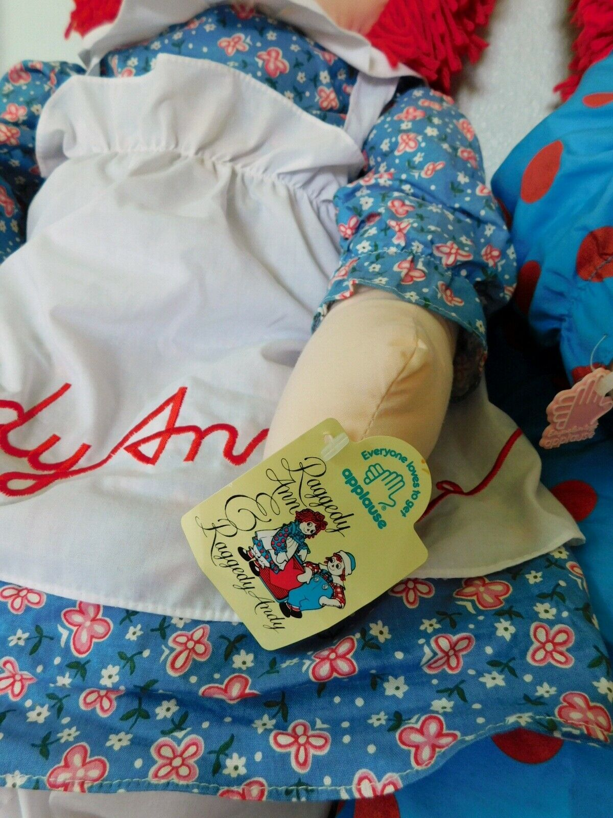 "(2) 36"" RAGGEDY ANN DOLLS with Hangtags Applause image 5"