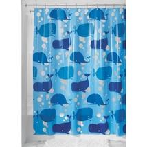 InterDesign Novelty EVA Shower Curtain, 72-Inch by 72-Inch, Blue - $18.09