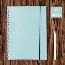 Blue Dot Grid Spiral Notebook Bullet Journal Big B5 Hardcover, Dotted 16... - $17.11