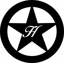 """Texas Star Metal 36"""" Wall Art Decor with letter initial...personalized - $133.64"""