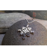 """Snowflake Pendant - Sterling Silver Pendant on 18"""" Sterling Silver Chain... - $73.00"""