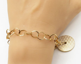 GUESS ITALY 18K Gold & 925 Sterling Silver - Guess Monogram Rolo Bracele... - $70.03