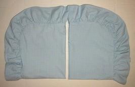 Ralph Lauren Wendy Gingham STANDARD PILLOW SHAMS Ruffled Allison Blue EX... - $89.99