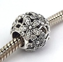 Authentic Pandora Dazzling Daisy Meadow Sterling Silver Bead Charm 791492CZ New - $48.44