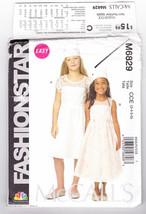 Pattern McCalls 6829 Girls Size 3 4 5 6 Dresses Fashion Star Easy, 2013 - $3.99